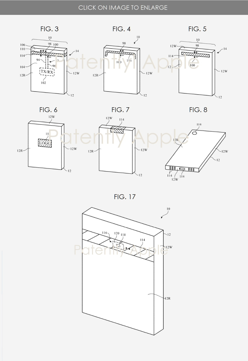 2 Apple Millimeter Wave Antenna patent figures 3-8 + 17  Patently Apple IP report
