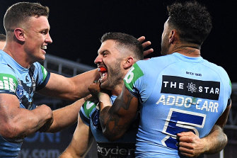 Could artificial intelligence have predicted James Tedesco's State of Origin series-winning try last year.